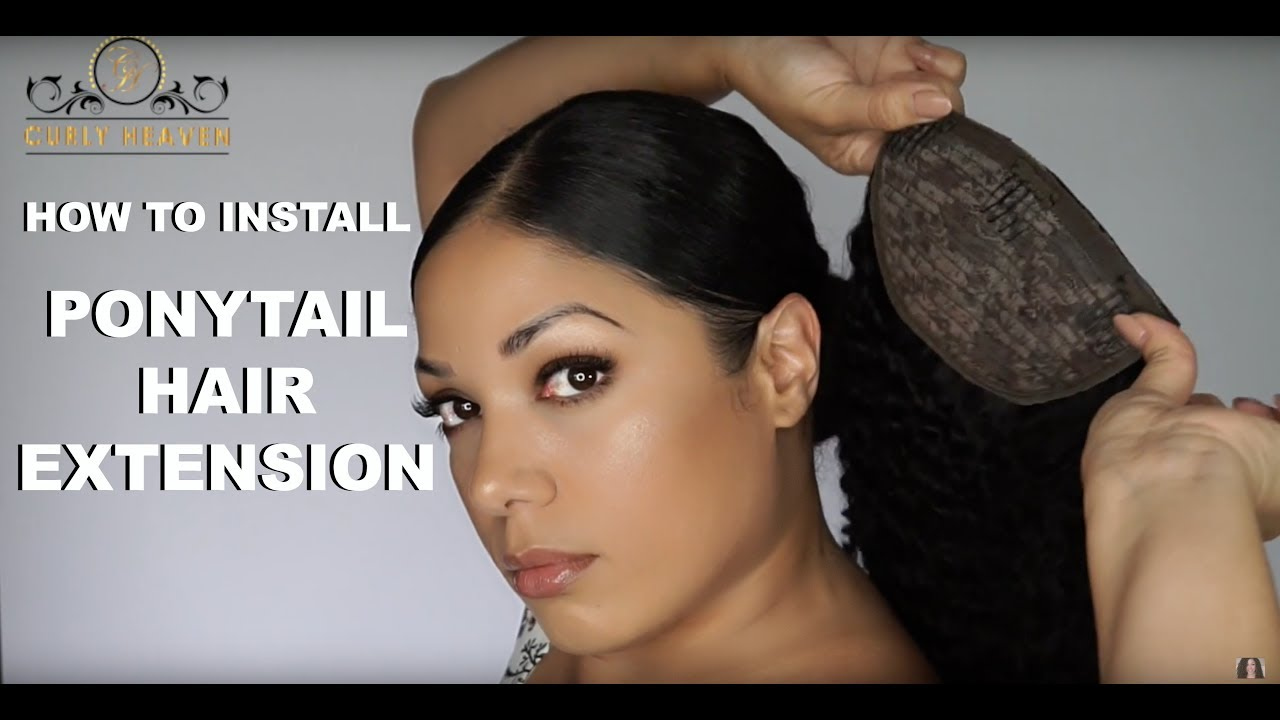 how to put weave in a ponytail
