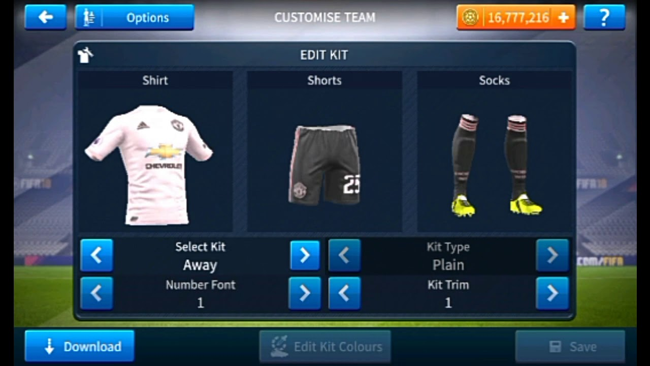 super popular a2126 0c988 How To Create Manchester United Logo And Kits In Dream League Soccer DLS 19