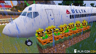 Minecraft Mod Plants vs. Zombies 2 Vs Air Force Planes Helicopter!