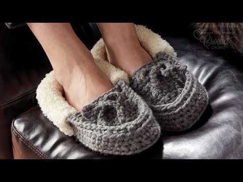 How To Crochet Slippers: Kids to Adult Sizes