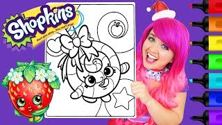 Coloring Shopkins Lolli Poppins Coloring Page Prismacolor Colored Paint Markers | KiMMi THE CLOWN