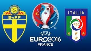 Pes 2015 sweden vs italy [euro 2016] match highlight