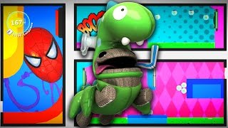 LBP3 - Comic Book Platform 2 The Unstoppable Oddsock - LittleBigPlanet 3 PS4 Gameplay