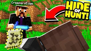 HUNTED our enemies and uncovered a CLUE to their SECRET Minecraft BASE! - Hide Or Hunt #2