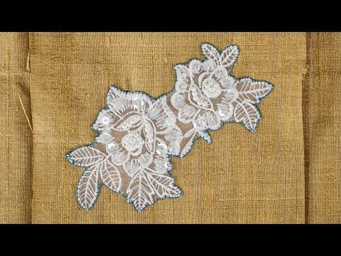 How to Sew on Lace Applique