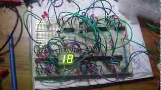 30 seconds countdown timer with LED blinking last 10 seconds