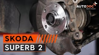How to change Axle shaft bearing on SKODA SUPERB (3T4) - online free video