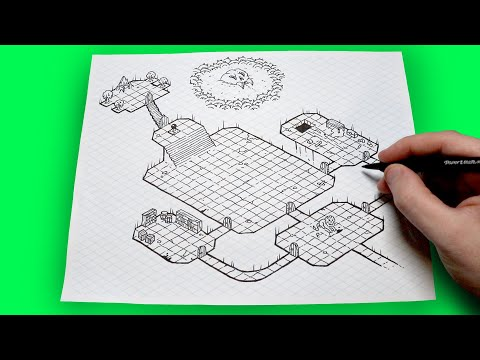 How To Create An Isometric Dungeon Map! Free Template!