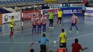 Resumen del Partido Colombia vs  Paraguay Copa Guatemala de Futsal 2015.
