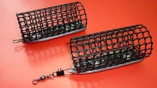 Фидерная кормушка своими руками из пластиковой сетки .feeder fishing  ..