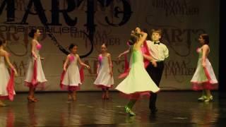 Спортивные бальные танцы. Вальс. Хореограф Яна Богданова, школа танцев МАРТЭ