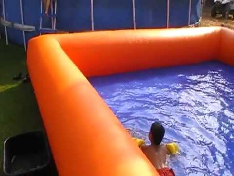 מבריק בריכת שחייה מתנפחת להשכרה-5 בלונים.קום -מיקי דואק 052-2205454 AO-54