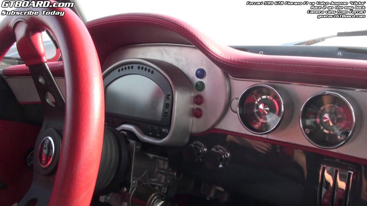 2nd Race Ferrari 599 GTB Vs Volvo Amazon Vcks Filmed