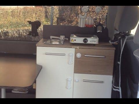 Vw Bus T4 Womo Ausbau Der Küchenblock Youtube
