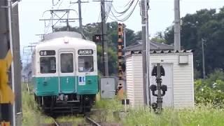 2017.08.14 長尾駅に到着する長尾線普通電車