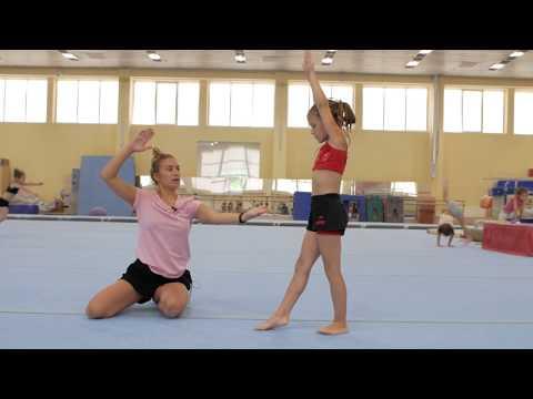 Как научиться делать маховое (переворот вперед без рук) Элемент в гимнастике (чирлидинге)