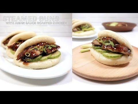 bakpao-lipat-ayam-panggang-saus-asia-//-steamed-buns-with-asian-spice-sauce-roasted-chicken