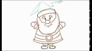 How to Draw a Cartoon Santa Claus (2 of 2)