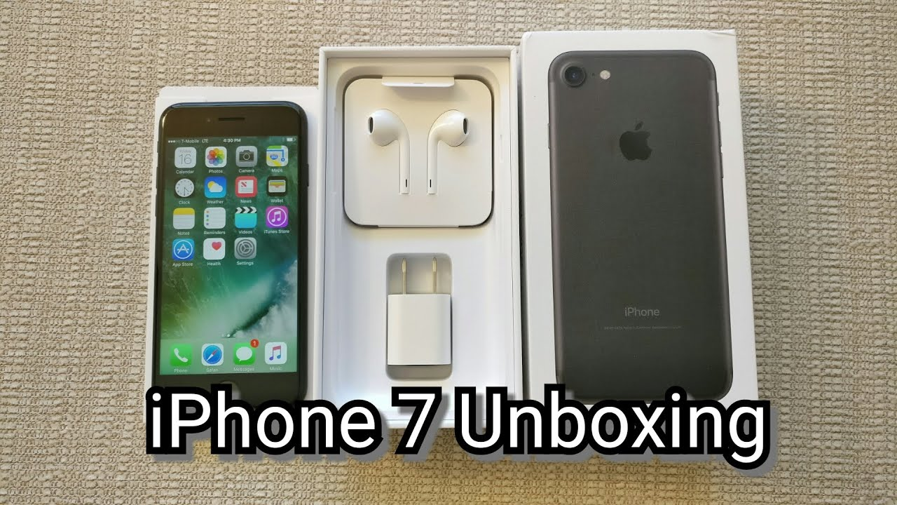 t mobile iphone iphone 7 unboxing t mobile version 1017