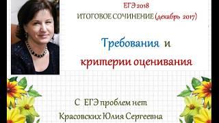 Итоговое сочинение 2017/2018. Критерии оценивания