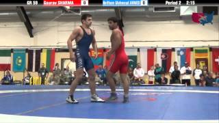 59 KG Gold - Gaurav Sharma (IND) vs Haitham Mahmoud Ahmed (EGY)