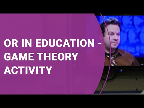 OR in Schools - Game Theory activity