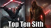 Top 10 Sith Lords (Results) - Star Wars Top Tens