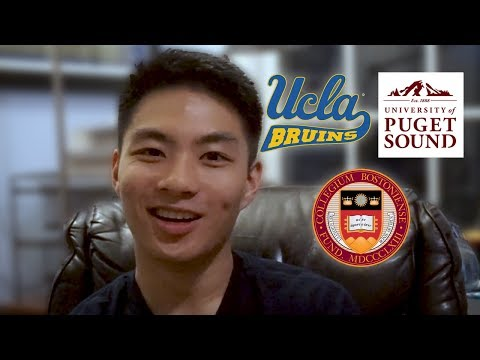 From Community College to UCLA, Boston College, and Puget Sound (tips/advice) - Elliot Tam