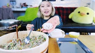1. How to Make DUMPLINGS at home! cooking/mukbang
