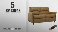 "Top 10 Rv Sofas [2018 ]: RecPro Charles 60"" RV Sofa Sleeper W/ Hide A Bed Loveseat Toffee"