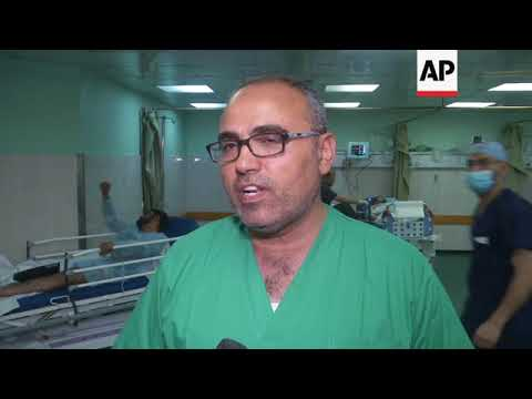 ONLY ON AP Patients with gunshot wounds fill Gaza's main hospital