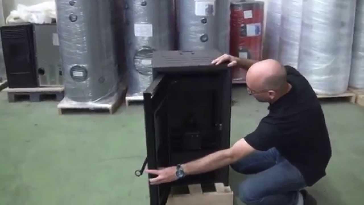 Estufas de pellets minerva f80 grupo biosan youtube - Instalar estufa pellets piso ...