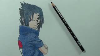 Easy tips to draw sasuke in just 2 minutes! !!