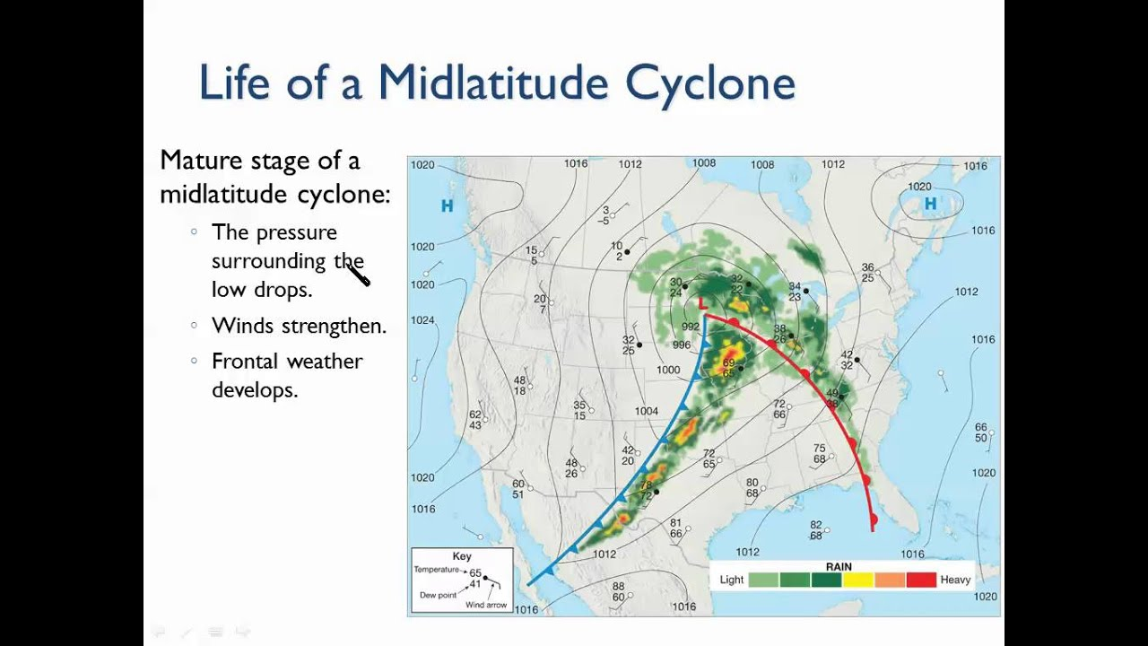 mid latitude cyclone in south hemisphere What is a mid-latitude cyclone-the mid-latitude cyclone is a synoptic scale low pressure system that has cyclonic (counter-clockwise in northern hemisphere) flow that is found in the middle latitudes (ie.