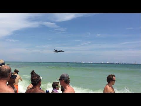 Blue Angels Sneak Pass Pensacola Beach Airshow 2017