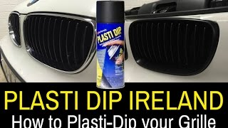 Plasti Dip Ireland - De-Chrome your BMW Grille to Matte Black