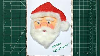 DIY Easy and Cute Christmas Card | Santa Claus Card | Craftosphere Ep. 11