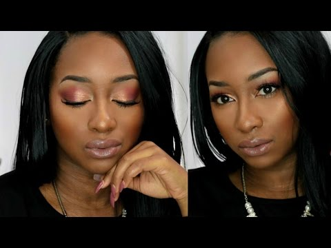 KYLIE BURGUNDY PALETTE 🍁 Full Face Makeup Tutorial