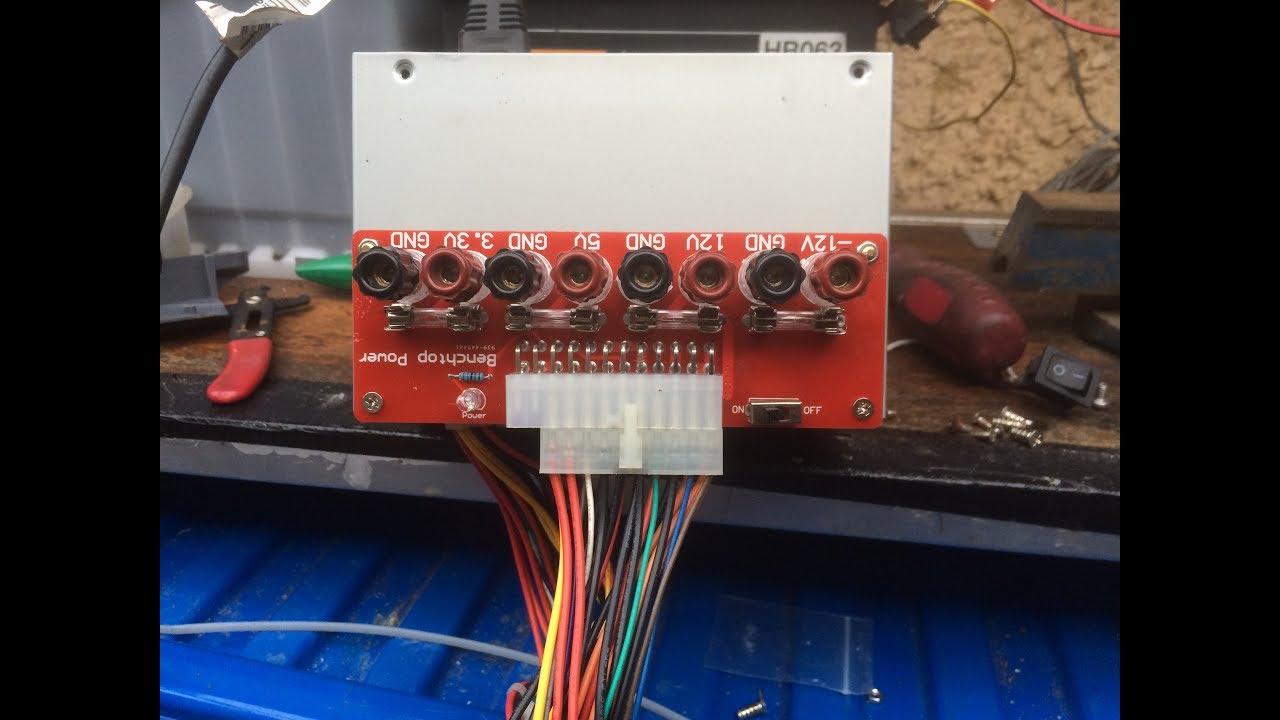 24Pins ATX Benchtop Power Board Computer Breakout Netzteil Module