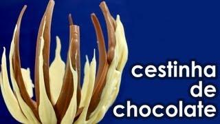 Cestinha de chocolate para a Páscoa (receita)