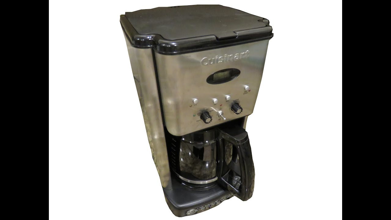 how to clean a coffee maker cuisinart