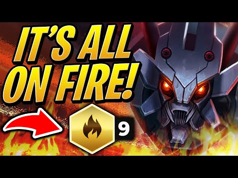 The ENTIRE Board Is On FIRE! 9 Inferno Team | Teamfight Tactics Set 2 | TFT | LoL Auto Chess