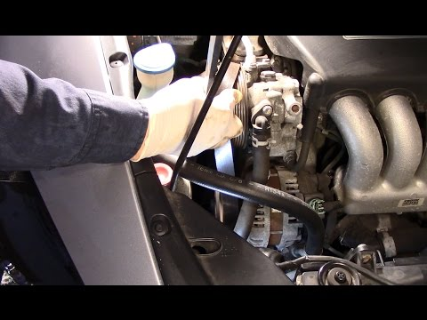 How to change a drive belt on a Honda Accord