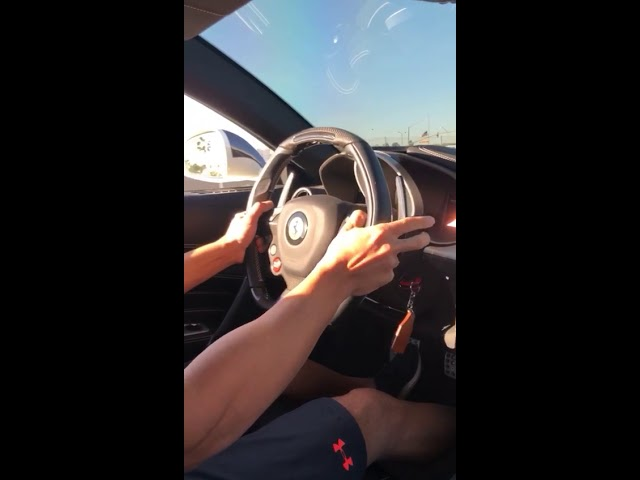 Ferrari FF cockpit view - stock with HD tuning burble software