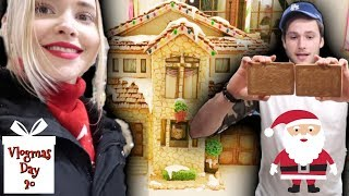 Building The BEST Gingerbread House Ever | Vlogmas Day 20