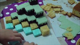 Как сделать торт Майнкрафт!