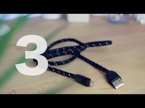 Cable tressé - 3 - Dans cette vidéo, je vous présente le troisième cable de chez iProteck, celui tressé.