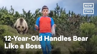 12-Year-Old Hiker Encounters Bear, Handles It Like a Boss | NowThis