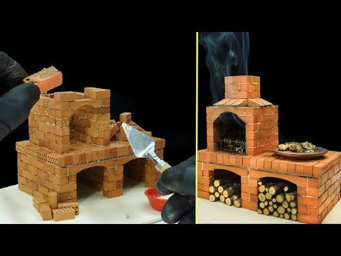 How to Build a Mini BBQ Grill from Real Bricks. BRICKLAYING