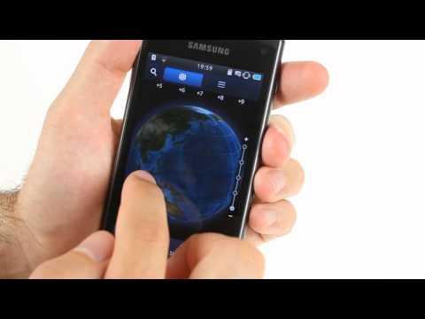 Samsung S8600 Wave 3 user interface demo